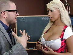 Big tits Bridgette is at school