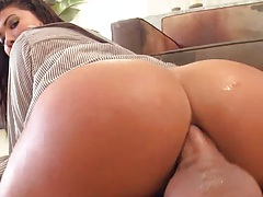 London Keyes sitting on cock deep anal and thrusting