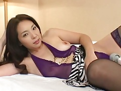 Asian small tits girl moans with a vibrator