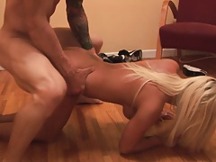 Blondie hard dogged on the floor