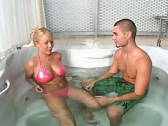 He finally convinces her to get naked after massage