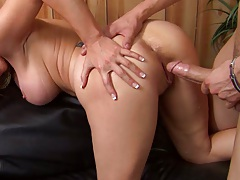 Milf hardcore pumped full of cock on the floor