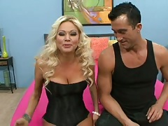 Blonde Nika Von james goes for large fat dick to suck