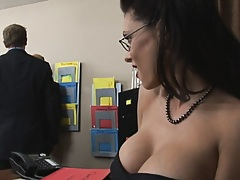 Tits at work and a needy coworker