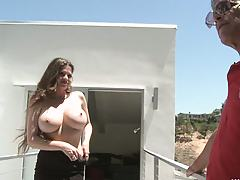 Hot milf gets all prepped for her famous humiliation