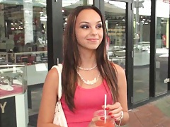 Cute brigiht latina Ariel at the mall