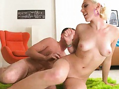 Sideways fucking Lily Labeau on the green carpet
