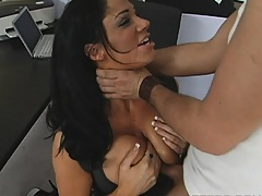 Hot chick spits the cum back out after a nice suck