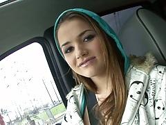 Teen Tori Black taking a drive for big black dick