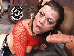Deepthroat gagging and some pony riding