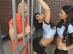 Big butt criminals in a prison