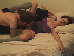Slut with no bra and panties gets pussy clicked