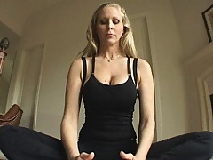 Hot chick finds her friend fucking the yoga instructor