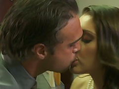 Making out and fingering Gracie Glam then she blows on her knees