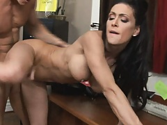 hot busty boss doggy fucked by her coworker