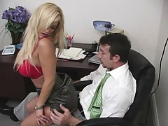Shyla rides and titty fucks that office jerk