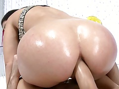 Anal penetration for Holly from the rear