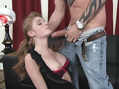 Faye gets punished and receives a bottle into her pussy