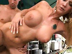 Black rose fucked from behind and cummed