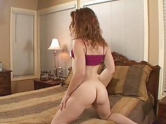 Striptease redhead fuck with Charlie Fire
