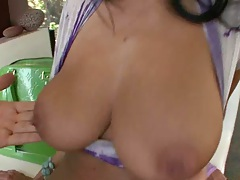 Great ass shaking and big tits jiggling with Ava Adams