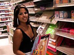 Latina going shopping