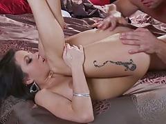 Big tits brunette milf Charity spreads legs