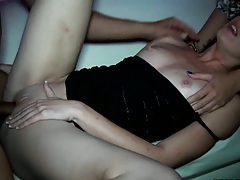Party sex with half dressed horny girls