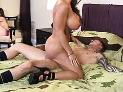Sexy big tits milf takes all the fun from Jennifer