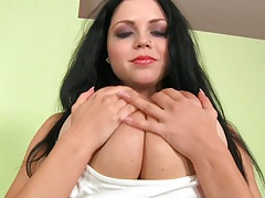 Euro babe with huge big ass tits