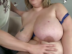 Big saggy bbw tits on Mandy Majestic and blwjob