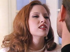 Redhead milf Gwen Summers is an experienced cock sucker