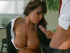 Big tits blowjob and dick touching nipples