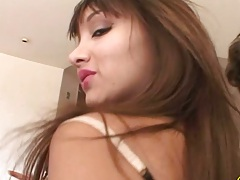 Asian Katsumi rough group sex with deep throats