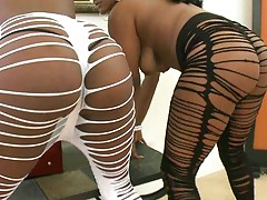 Hot black asses shaking and twisting