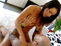 Cowgirl sex and blowjob with big tits Franceska Jaimes and nice ass view