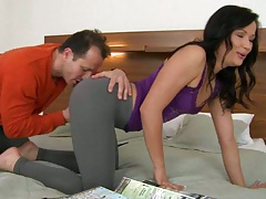 Nikis gets her ass felt up and fingered licked