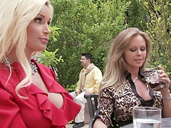 Amia Miley and Dyanna Lauren hot babes outdoor on a picnic