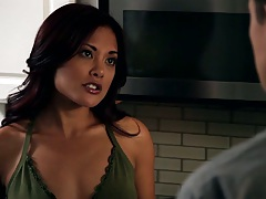 Kaylani Lei a hot asian in the kitchen then some sex