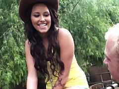 Cow girl slut Tasia Banx an 18 year old bitch