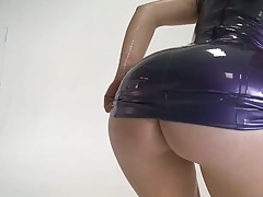Awesome ass Remy La Croix gets oil all over her body wearing clothes