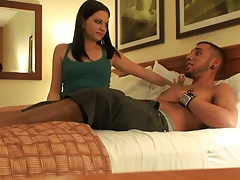 Sexy Brandi stripping down in a motel room