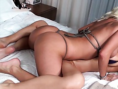 Molly is playing our her lesbian hot friends big tits