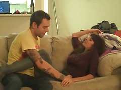 Home video couple getting naughty on couch
