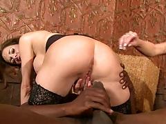 Big tits milf sucking and fucking big black cock