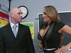 Hot teacher in a short skirt Alanah Rae