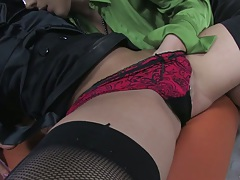 Fingering cunt in panties in girl on girl Honey Lovely and Aleska Diamond