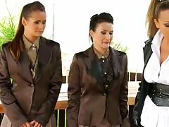 Tatiana Milovani and Gina Killmer looking mean femdom lesbian biatches