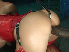 Cathy Heaven big black cock and a toy up her ass fuck