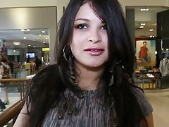 Latina Sadine Godiva in public mall picking out something sexy
